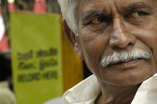 Sri Lanka, India, Old Man, Senior, Buddhism, Culture