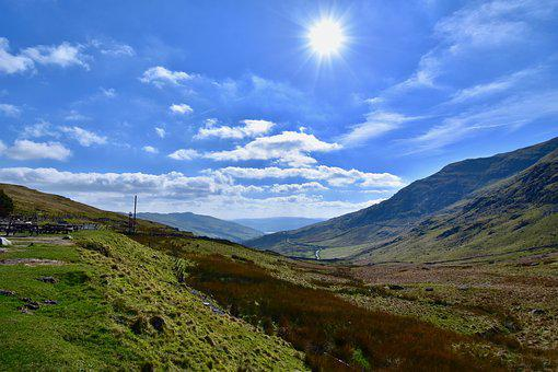 Lake District, England, Countryside, Blue Skies