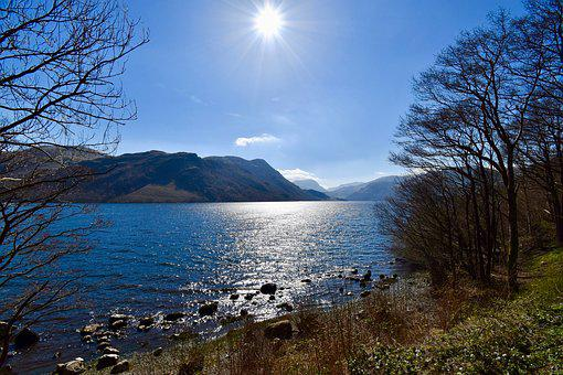 Ullswater, Lake District, England, Sunny Day, Beautiful
