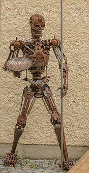 Sculpture, Art, Iron, Figure, Artwork, Man, Terminator
