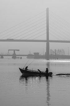 Stralsund, Bridges, Fisherman, Angler, Boat