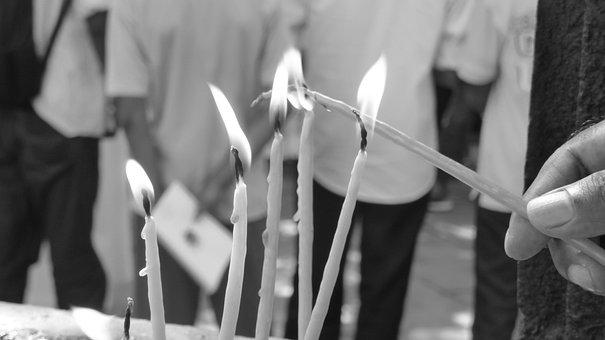Candles, India, Sri Lanka, Light, Flame, Culture