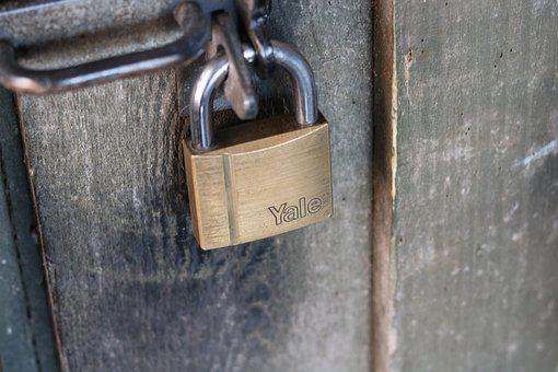 Lock, Closed, Handle, Padlock, Wood