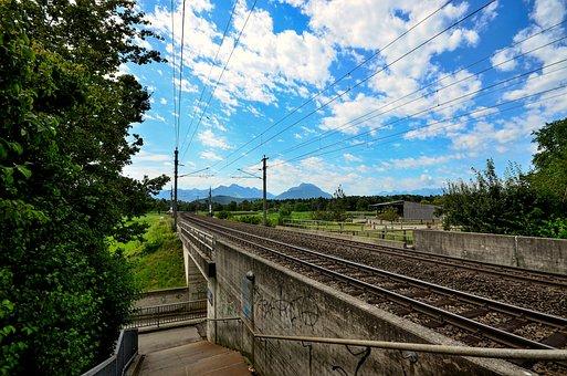 Railroad Track, Staircase, Transfer, Rail Traffic