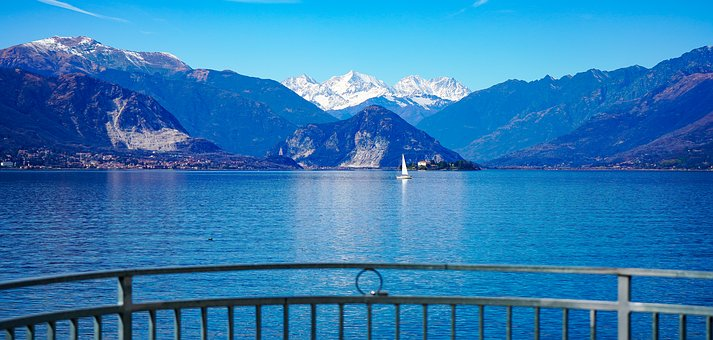 The Port Of The Rhine, Sailing Boat, Lago Maggiore