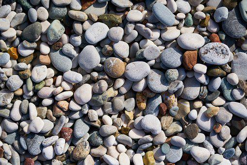 Gravel, Stone, Sand, Close To The Beach, Macro, Texture