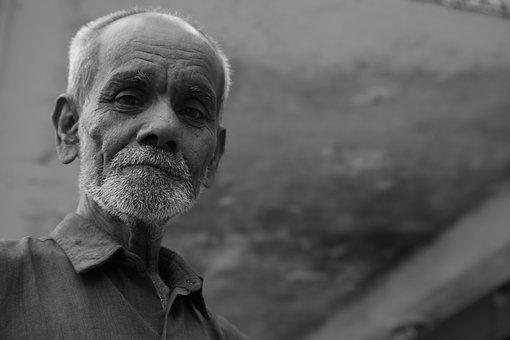 Sri Lanka, India, Old Man, Senior, Male, Grandpa