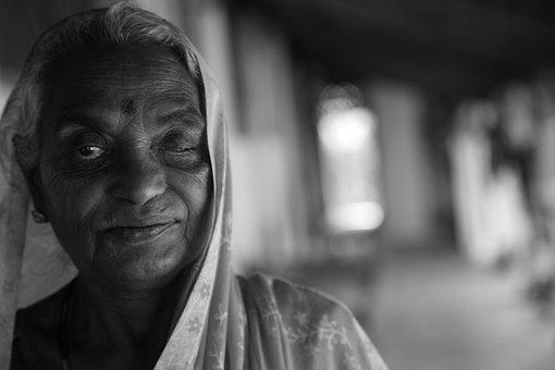 Sri Lanka, India, Old Woman, Senior, Buddhism, Culture