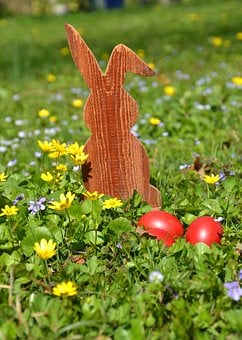 Easter, Hare, Easter Bunny, Spring, Grass, Nature, Egg