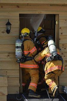 Firefighter, Work, Fire, Team, Protection, Helmet