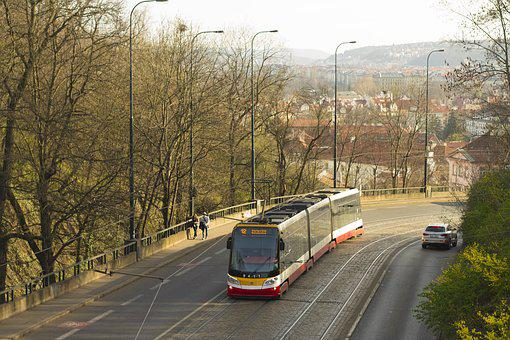 The Tram, Turn, Road, Travel, Transport