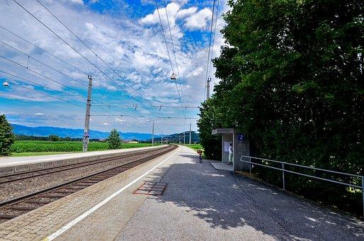 Railroad Track, Stop, Rail Traffic, Wait, Travel