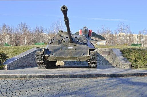 Tank, Monument, Soviet Army, Army, Military, Weaponry