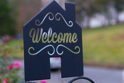 Welcome, Sign, Board