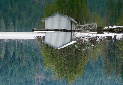 Buntzen Lake, Boat House, British Columbia, Canada