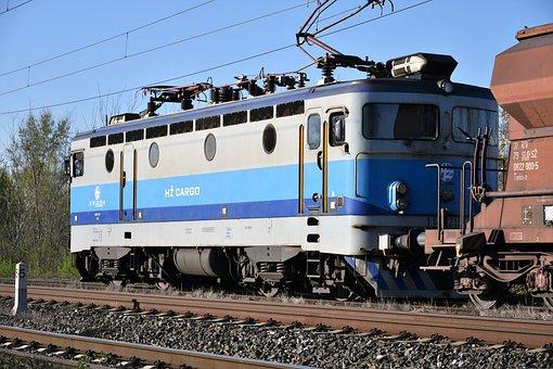 Electric Locomotive, Cargo Train, Transportation
