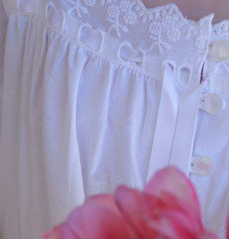 Great, Fabric, White, Nightdress, Textile, Close Up