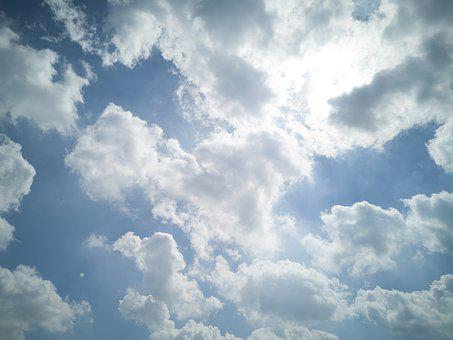 Cloud, Blue, White, Sky, Background, Clouds, Nature