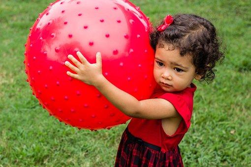 Baby, Ball, Huge, Cute, Kid, Child, Girl, Children