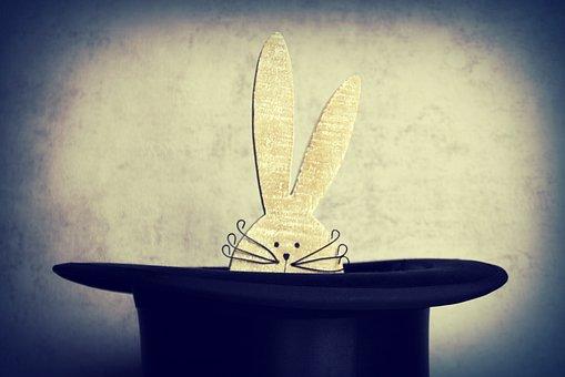 Hare, Hat, Cylinder, Conjure, Spotlight, Easter