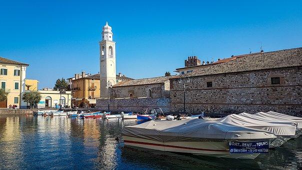 Lazise, Lago Di Garda, Garda, Italy, Downtown, Tourism