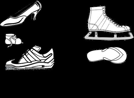 Footwear, Shoes, Sneakers, Trainers, Ice Skates