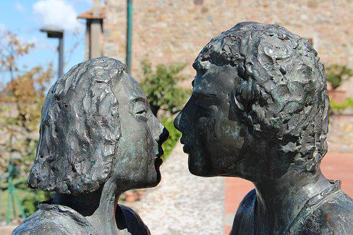 Faces, Statue, Sculpture, Heads, Love