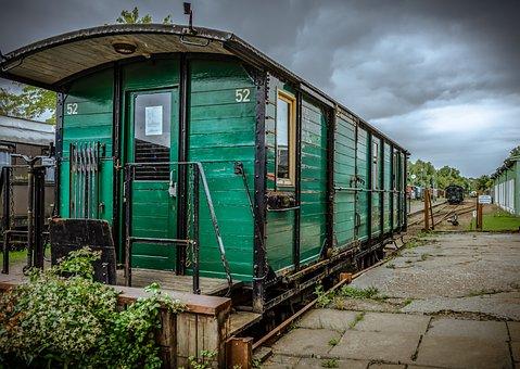 Railway Carriages, Wood, Metal, Iron, Steel, Empty
