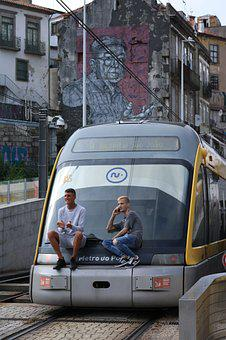 Porto, Tram, Metro, Black Driver, No Ticket