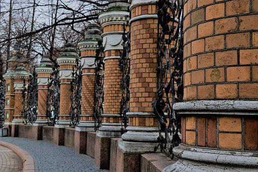 Columns, History, Fence, Architecture, Art, Monument