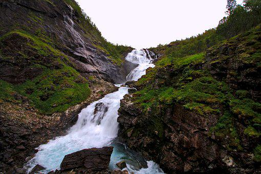 Waterfall, Landscape, Nature, Brook, River, Scenic