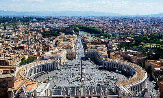 Vatican, Overlooking, St, Peter's Square