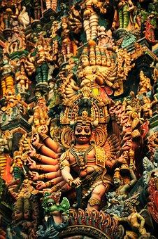 Sculpture, Art, Temple, Tower, God, Culture, Tamilnadu