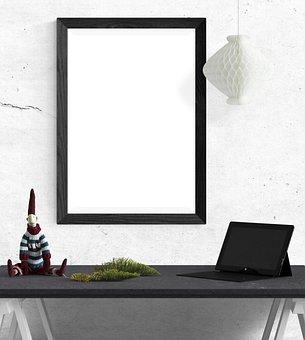 Poster, Frame, Desk, Laptop, Toy, Pine