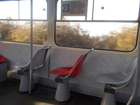 The Tram, Seats, An Empty, Transport, Historically