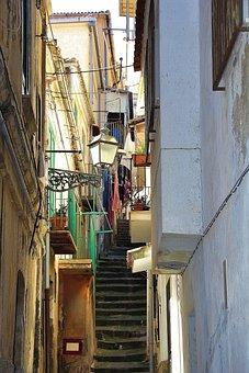 Alley, Calabria, Italy, Tropea, Mediterranean
