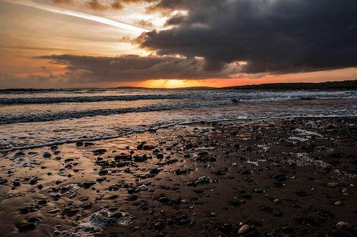 Sunset, Sea, Nature, Sky, Water, Dusk, Sun, Twilight
