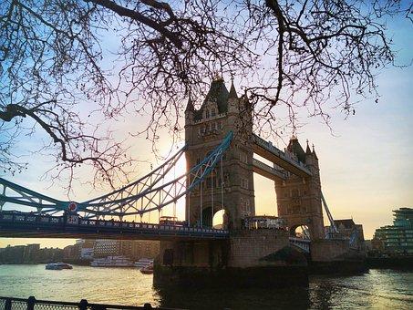 Tower Bridge, London, Uk, Thames, River, Sun Rise