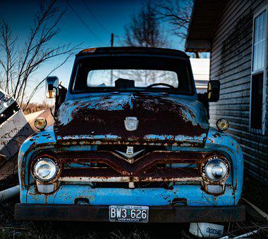 Truck, Vintage, Vehicle, Car, Old, Antique, Abandoned