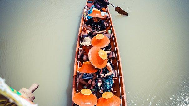 Floating Market, Bazaar Thailand, Thailand, Water