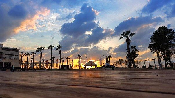 Sunset, Beach, Sea, Sky, Dusk, Nature, Dawn, Clouds