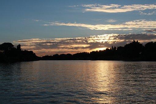 Sacramento, River, Delta, Water, Nature, Sky, Sunset