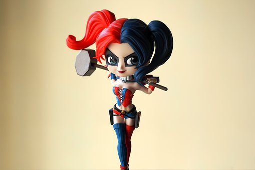 Harley, Quinn, Young, Lady, Female, Girl, Toy, Figurine