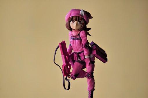 Llenn, Young, School, Girl, Female, Toy, Figurine, Pink