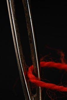 Needle, Thread, Sew, Yarn, Hand Labor, Nähutensilien