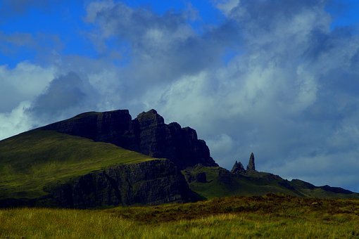 Isle Of Skye, Scotland, Landscape, Old Man Of Storr