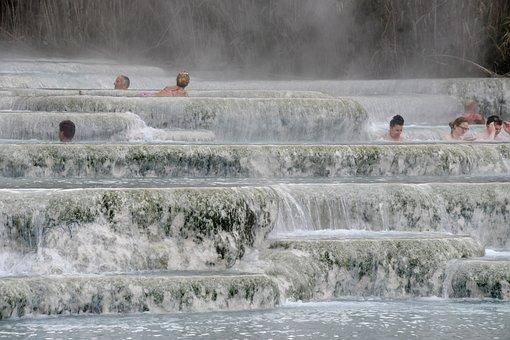 Italy, Tuscany, Saturnia, Hot, Springs, Terme, Thermal