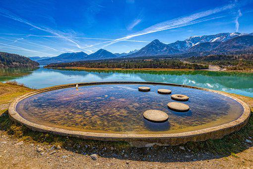 Spring, Water, Landscape, Nature, Sky, Mirror Image