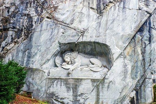 Switzerland, Lucerne, Lion Monument