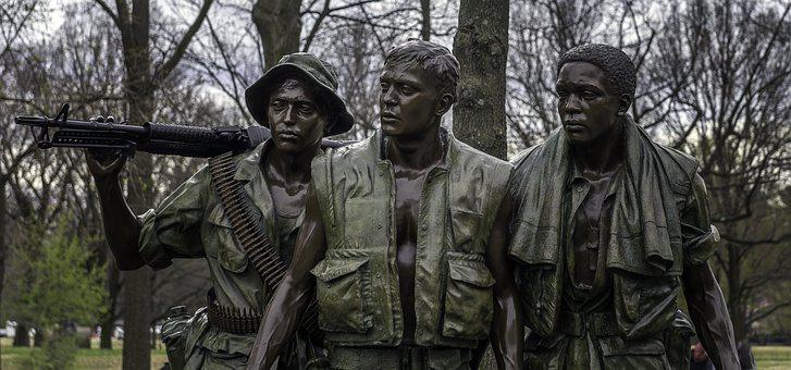 Vietnam, Memorial, Soldiers, Monument, Sculpture